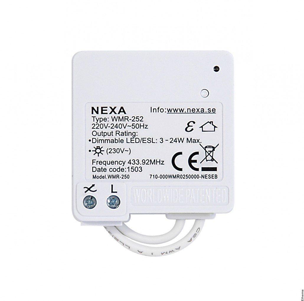 Nexa wmr252 bruksanvisning